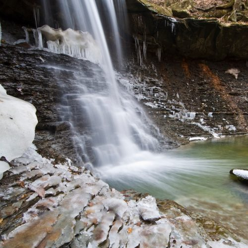 Photo of Blue Hen Falls at the Cuyahoga Valley National Park